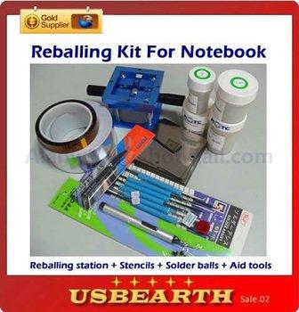 BGA Accessories BGA Reballing Station + BGA Stencils + Leaded Solder Ball + AL Tape + Vaccum Pan + Tweezer ,Reballing kit