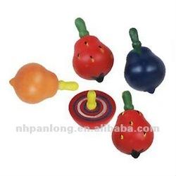 fashion wooden fruit gyro top toys