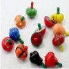 fashion wooden fruit gyro toys spinning top