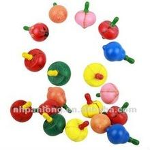 fashion wooden fruit gyro toys top