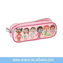 Hot sales clear vinyl pencil pouch with colorful printing XYL-S241