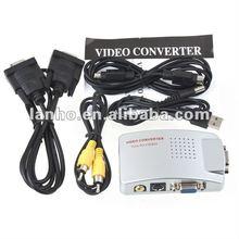 PC VGA to TV Video AV Signal Converter Video Switch Box