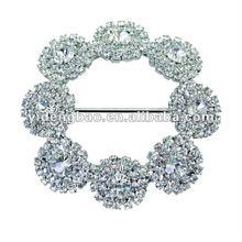 2012 fashion crystal flower shoe buckle