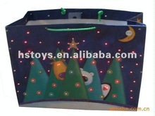 led promotional musical Christmas gift bags