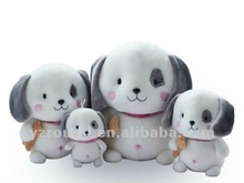 cute lovely plush dog with big head eyes