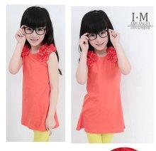 2012 hot style fashion summer korean baby girl's t shirt