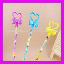 fashion cheap promotional heart pens with bow knot