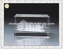 Beautiful 3D laser crystal building