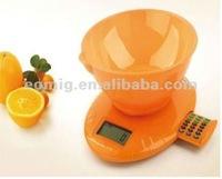 Clock alarm clock multifunction digital nutrition diet scale
