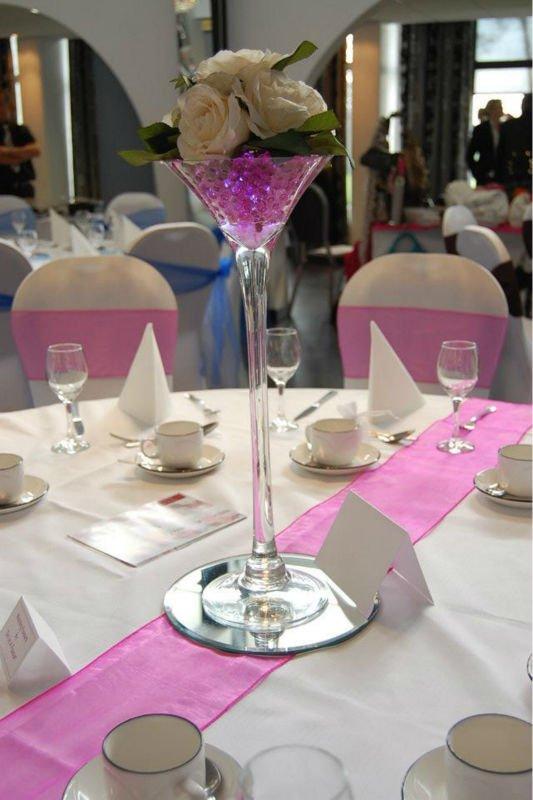 Pink Water Beads Make Wedding Centerpiece Outstanding