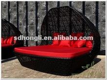 Polyrattan garden furniture or outdoor sofa bed
