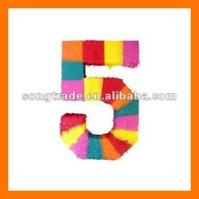Party decoration gift digit 3D paper craft pinata