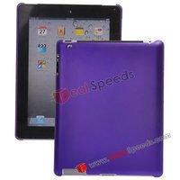 High Quality Plain Matte Hard Case for iPad 2(Purple)