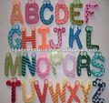 cartoon 26 alfabeti frigorifero magnete lettere di legno di forma del magnete frigo