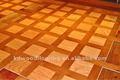"""9"""" مربع الباركيه الخشب الطبيعي الحقيقي طلاء للأشعة فوق البنفسجية الأرضيات هندسيا"""