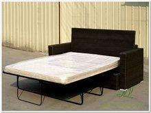 Patio rattan sofa cum bed or outdoor furniture