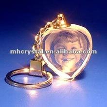 Engraved Heart Crystal key chain MH-YS0259