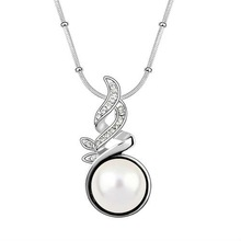 Austrian pearl crystal jewelry necklace-Of all things alive(White)