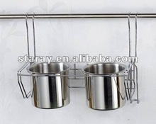 HCJ232 Kitchen Stainless Steel Spoon Knife Cup Holder Rack