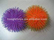 7 inch 2 tone puffer ball/fluffy flashing ball