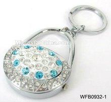 Popular rhinestone lady bag key ring watch for promotion