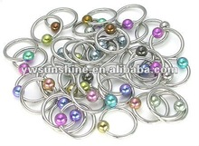 Vibrating body jewelry piercing rings