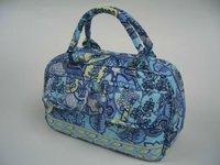 Z214 New Fashionable Quilted 100% Fancy Purse Handbag Medium Purse cotton handbag
