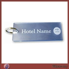 Hot selling quadrate acrylic/lucite key chain/key ring