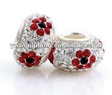 Fashion Big Hole Crystal beads!! Rhinestone Crystal Rhinestone 2012!! Paypal!!