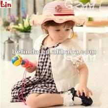 pink children paper straw hat