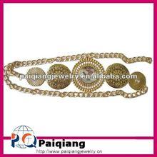 Hot selling metal chain belt with five metallic discs