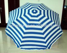 240cm diameter 120G poly-cotton (T/C) sun beach umbrella(UV protect)