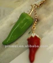Fashion Metal Alloy Rhinestone Pepper keychain wedding gift KC11903