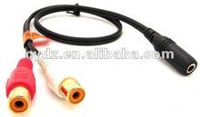 Hot sale Economical Audio 3.5/2RCA cable