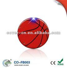 Basketball shaped LED flashing Badge with Pin&Magnet back