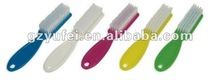 plastic nail dust brush with handle