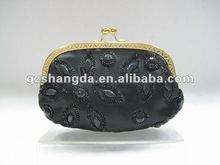 2012 latest style of evening bag,clutch bag for elegant ladies by handstitched rhinestones