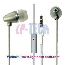 Chromed high quality radiation free earphones/earbud/earplug with mic for iphone 3G