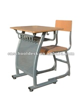 Single desk and chair used mostly in school