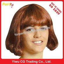 PWS-0127 Hot sale women's coffee Party wig Carnival wig Halloween wig