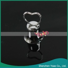 Heart Shaped Bell Place Card Holder For Wedding (Silver)