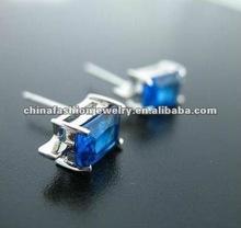 2012 Shining Blue Zircon Stud Earrings For Men
