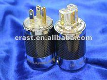 SONARQUEST Carbon Fiber Series Gold plated US Power plug