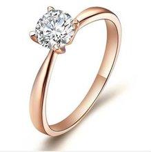 925 plated Rose Gold Swiss diamond ring female fashion to send his girlfriend's birthday gift SZR0069K