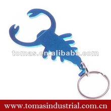 Lovely scorpion shape metal bottle opener keychain