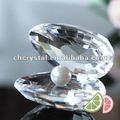 Cor clara 50mm cristal casca de ostras, concha de cristal