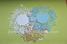 laser cut crafts fish pattern felt placemat