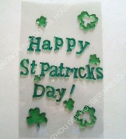 designer gel stickers for happy st patricks day