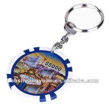 11.5g eight stripe sticker chip with keychain