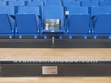 anti-aging,waterproof public economic arena seating system with safe rail for indoor multifunction,entertainment,theater,cinemas